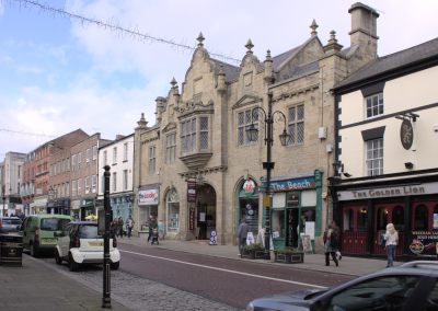 Wrexham's High Street and Market Hall